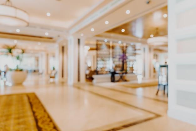 Vervaag de lobby van het luxe hotel