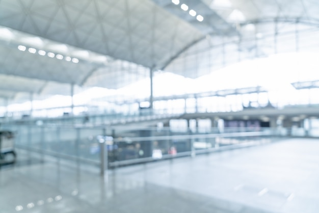 Vervaag lege luchthaven