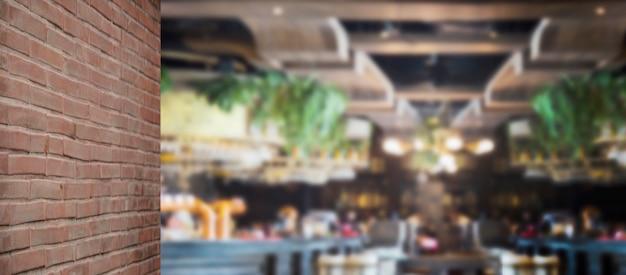Vervagen achtergrond luxe restaurant voor levensmiddelenbedrijf