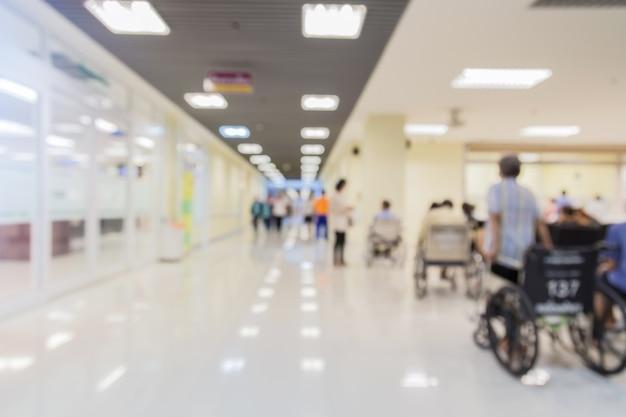 Vervagen afbeelding achtergrond van een ziekenhuis