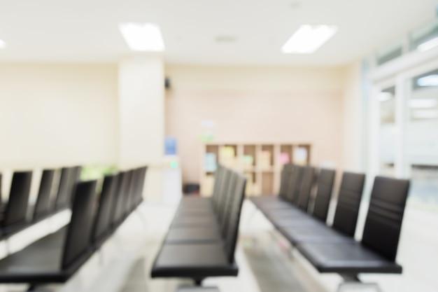 Vervagen afbeelding achtergrond van wachtruimte in ziekenhuis of kliniek