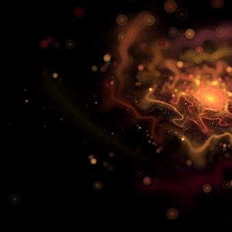 Vervagen fractal chaos met bokeh-effect