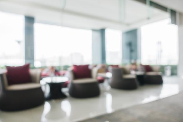 Vervagen hotel lobby