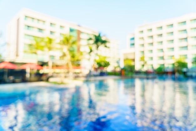 Vervagen zwembad hotel resort
