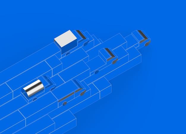 Vervoer aannemer metalen vrachtwagen speelgoed model voertuig isometrische collectie logistieke illustratie