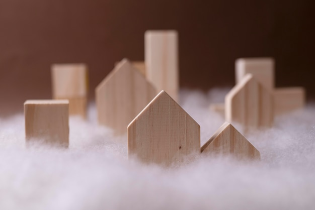 Vervuilingsconcept met verstikte huizen