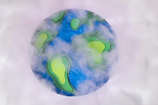 Vervuilingsconcept met verstikte planeet