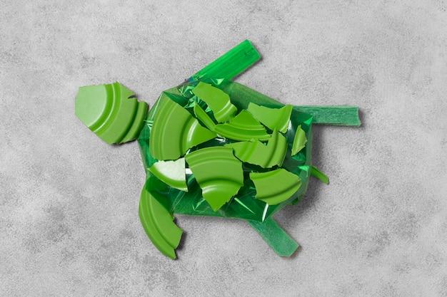 Vervuilingsconcept van plastic afval