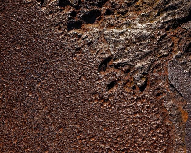 Verweerd ijzeren oppervlak. roestig staal of metalen structuur.