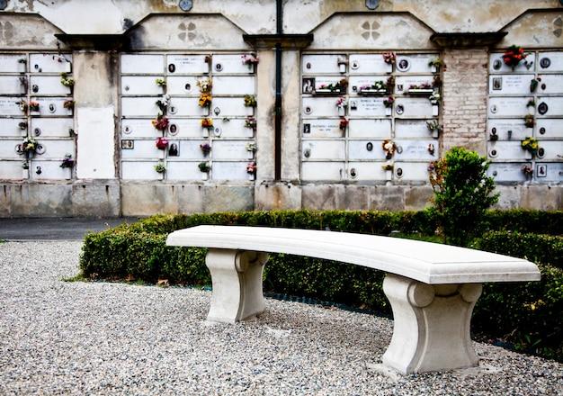 Verzameling van architectuurvoorbeelden op europese begraafplaatsen