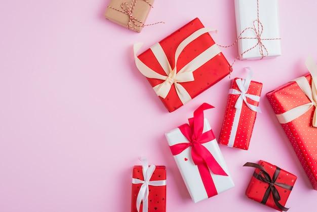 Verzameling van diverse valentijnsdag geschenken