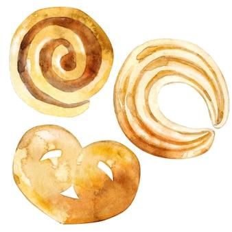 Verzameling van koekje, zandkoek en cracker