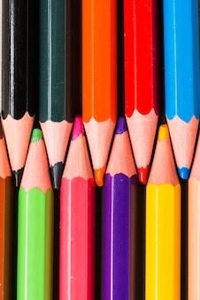 Verzameling van lichte potloden