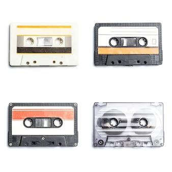 Verzameling van retro audio-tapes