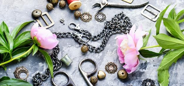 Verzameling van retro sieraden