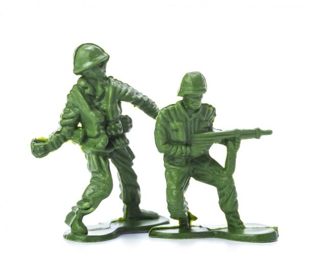 Verzameling van traditionele speelgoedsoldaatjes