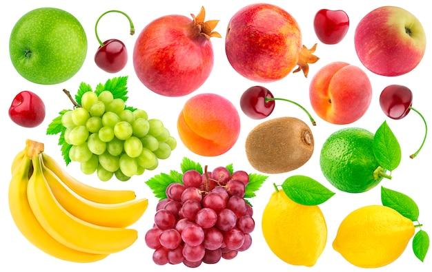 Verzameling van verschillende fruit en bessen