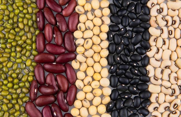 Verzameling van verschillende peulvruchten