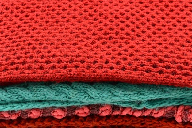 Verzameling van wollen kleding