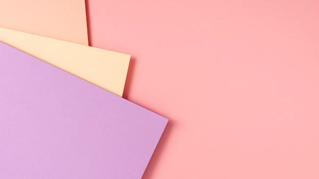 Verzameling vellen pastel karton