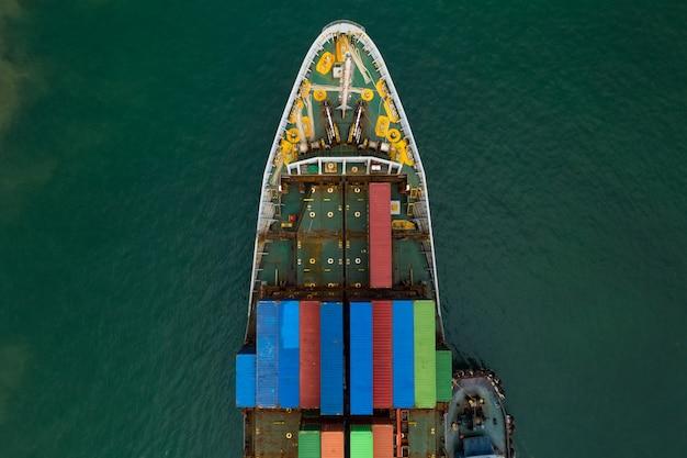 Verzending vrachtcontainerservice zakelijk transport import export internationaal aan zee
