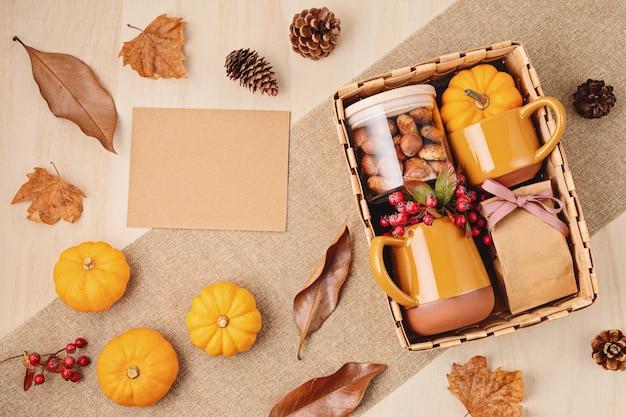 Verzorgingspakket voorbereiden voor thanksgiving