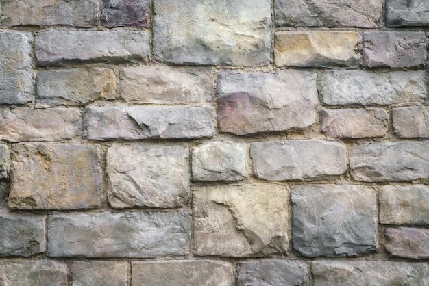 Vesting buitenkant bruin omringende cement