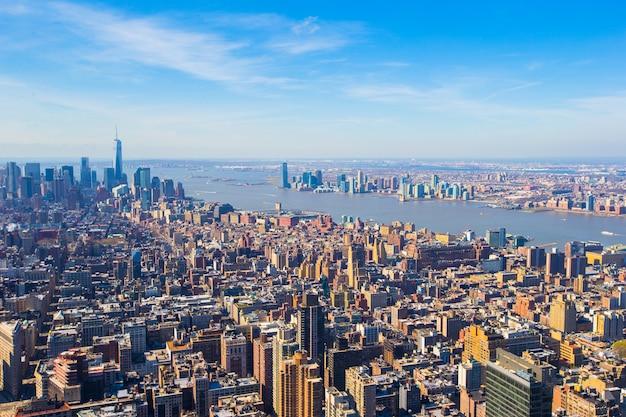 Vew van manhattan van het empire state building, new york