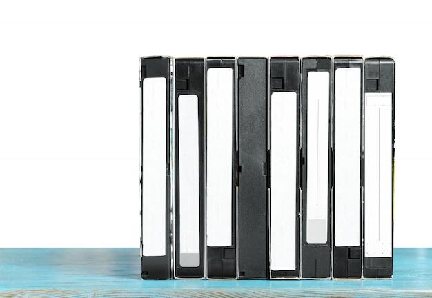 Vhs-videocassetteband op de tafel