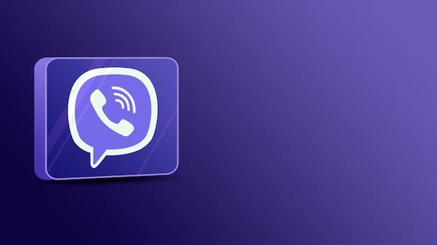Viber-logo op een glazen platform 3d