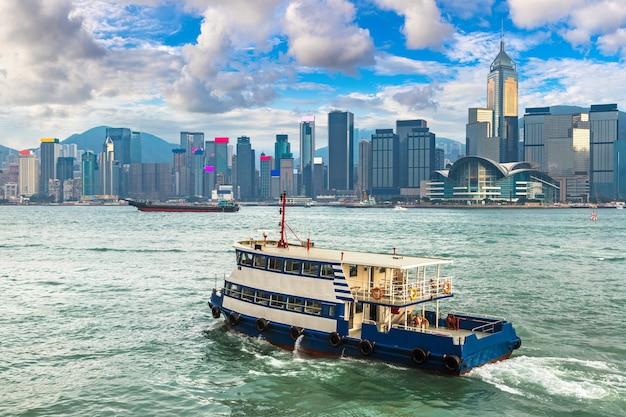 Victoria harbor in hong kong, china