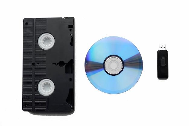 Videoband, cd-rom en flashstation