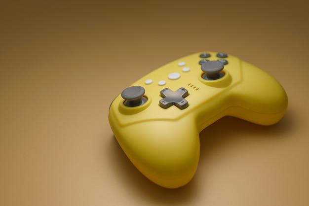 Videogames, entertainment thuis. draadloze joystick.