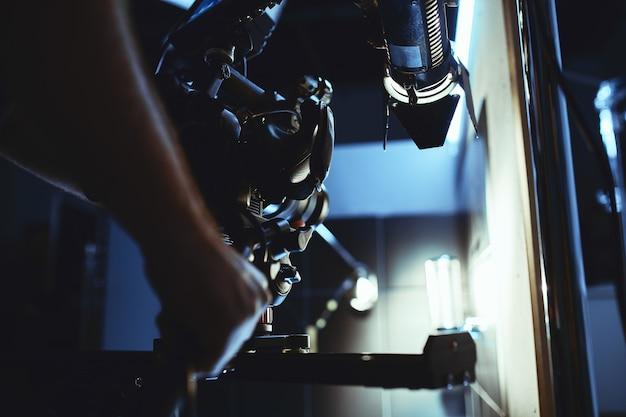 Videoproductie backstage achter de schermen bij het maken van videocontent