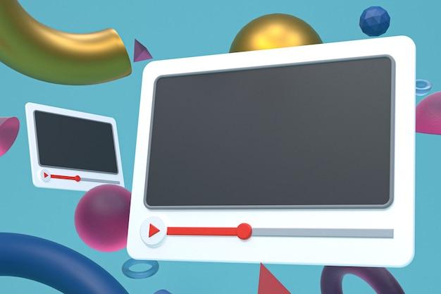 Videospeler of video mediaspeler-interface