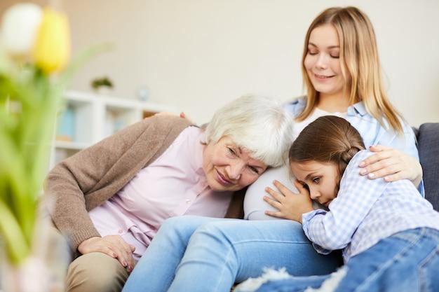 Vier generaties vrouwen