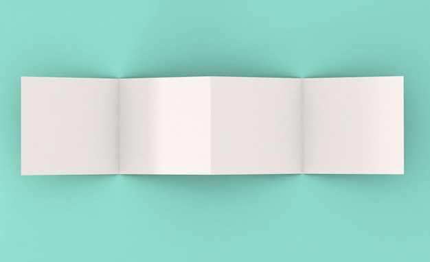 Vier pagina's vierkant foldermodel