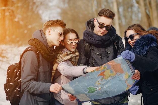 Vier toeristen
