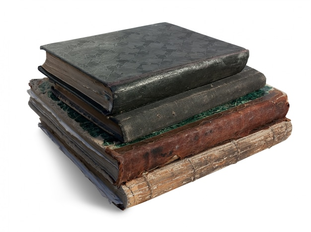 Vier vintage boeken.