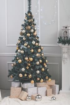 Viering, kerstmis, nieuwjaar, wintertijd, vakantie, decoratie, ontwerp, decor. kunst