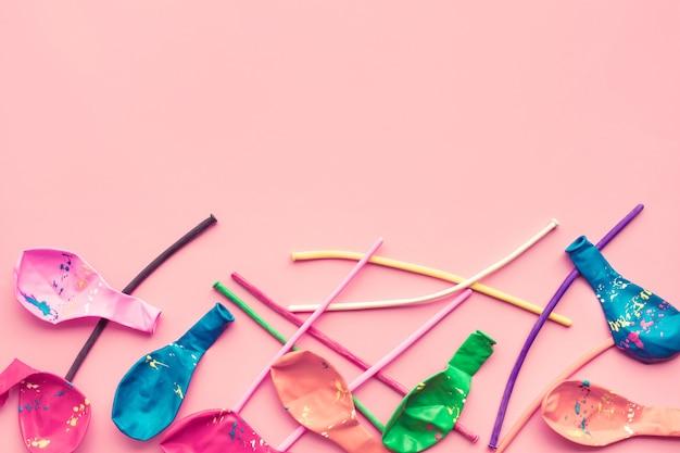 Viering, partijachtergronden conceptenideeën met kleurrijke ballon