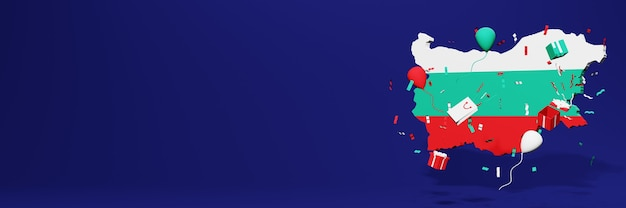 Viering van de onafhankelijkheidsdag in bulgarije voor websiteomslagen