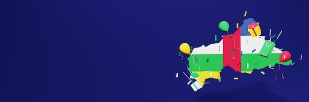 Viering van de onafhankelijkheidsdag in centraal-afrikaanse republiek voor websiteomslagen