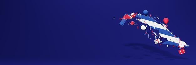 Viering van de onafhankelijkheidsdag van cuba voor websiteomslagen