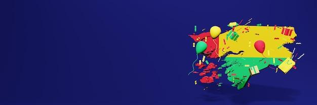 Viering van de onafhankelijkheidsdag van guinee-bissau voor websiteomslagen
