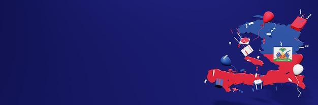 Viering van de onafhankelijkheidsdag van haïti voor websiteomslagen