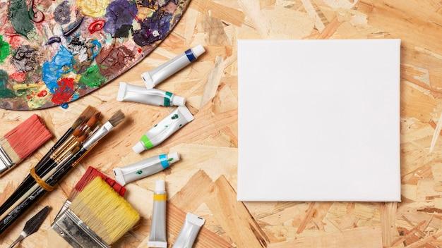 Vierkant canvas en acryl
