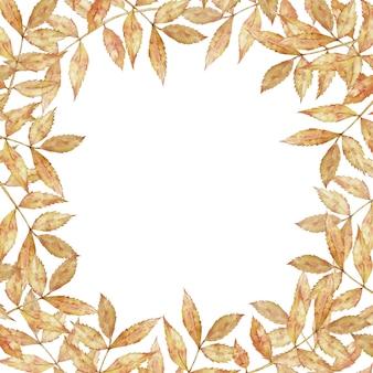 Vierkant frame met bladeren