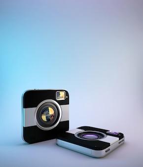 Vierkante sociale camera