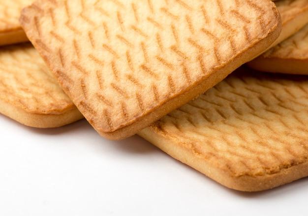 Vierkante zelfgemaakte koekjes